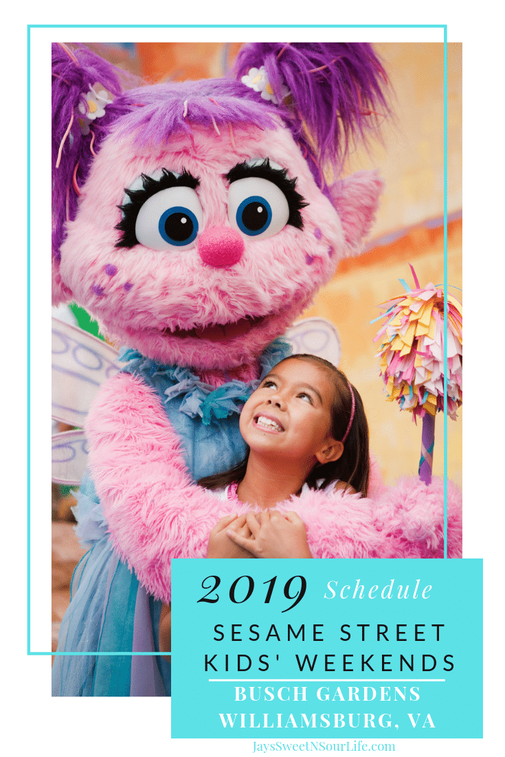 It's time to party with your Sesame Street friends at Busch Gardens Williamsburg, VA. All of your Sesame Street friends are throwing a party every weekending in April. With Exclusive family activities, dance parties and so much more, you won't want to miss it. View the full 2019 Schedule on my blog for more details.