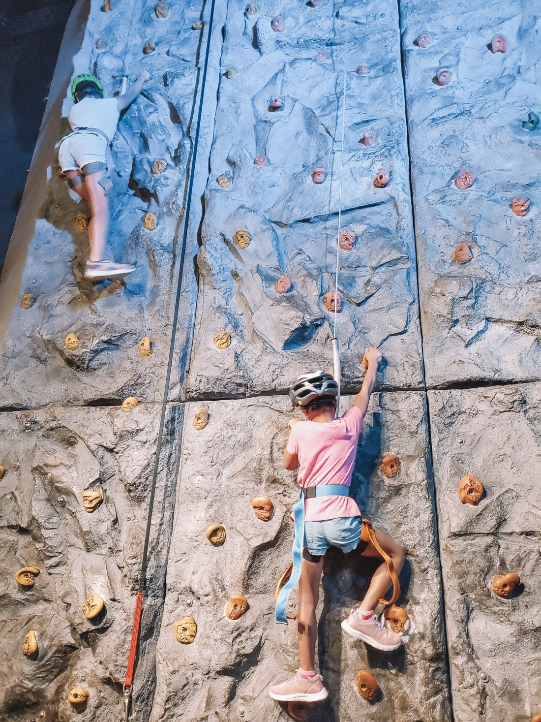 """WonderWorks Rock Climbing. One of the topthings to do in Pigeon Forge, WonderWorks Indoor Amusement park, is one of the bestPigeon Forge Attractions. With over 35,000 square feet of """"edu-tainment,"""" WonderWorks is an amusement park for the mind. Read our full review on the blog."""