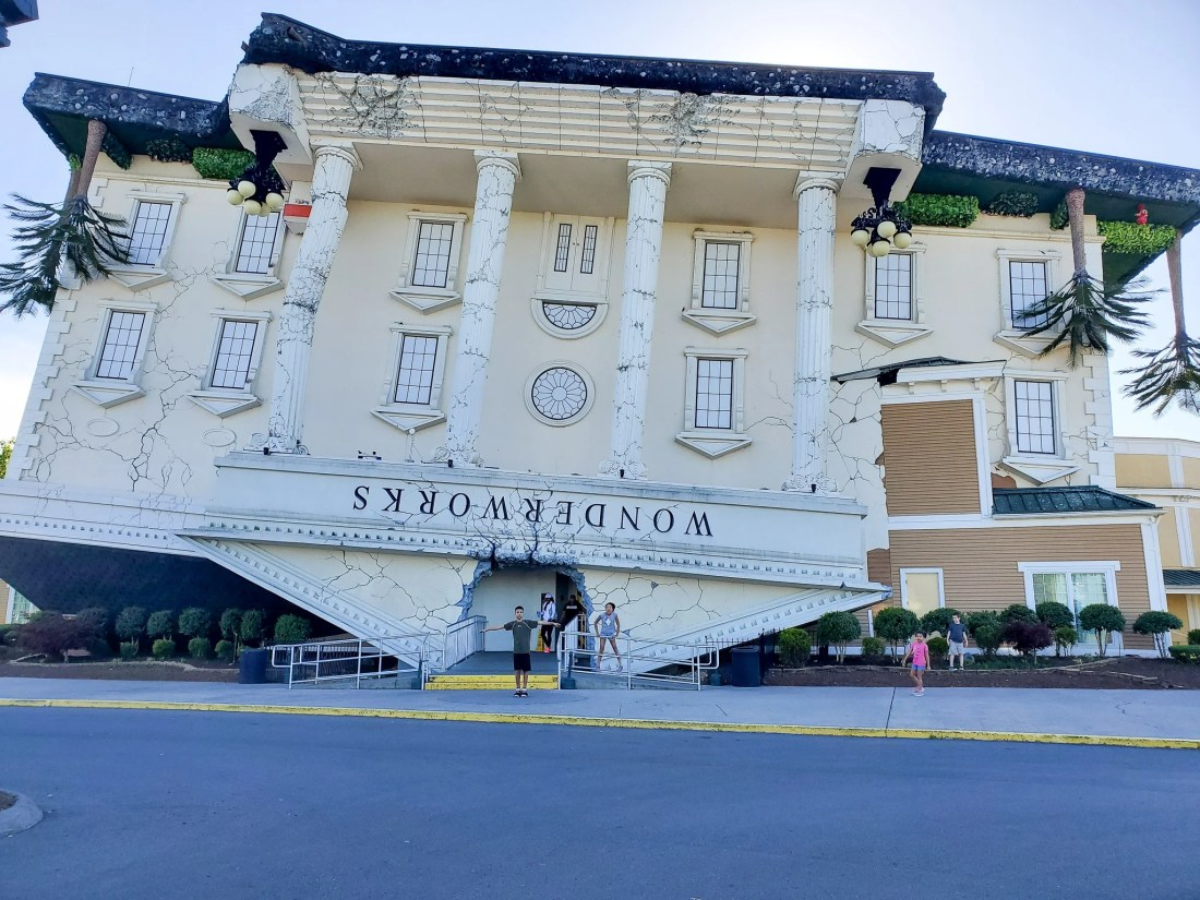 """WonderWorks Pigeon Forge, TN. One of the topthings to do in Pigeon Forge, WonderWorks Indoor Amusement park, is one of the bestPigeon Forge Attractions. With over 35,000 square feet of """"edu-tainment,"""" WonderWorks is an amusement park for the mind. Read our full review on the blog."""