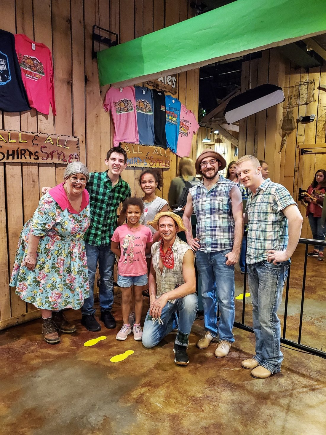 Hatfield and McCoy Family Feud Dinner Show Group Actor Photo. Nothing says entertainment like a good family feud in the Hatfield & McCoy Dinner Show. Laugh until your sides hurt in this hilarious show that offers an all you can eat southern style cooking dinner.
