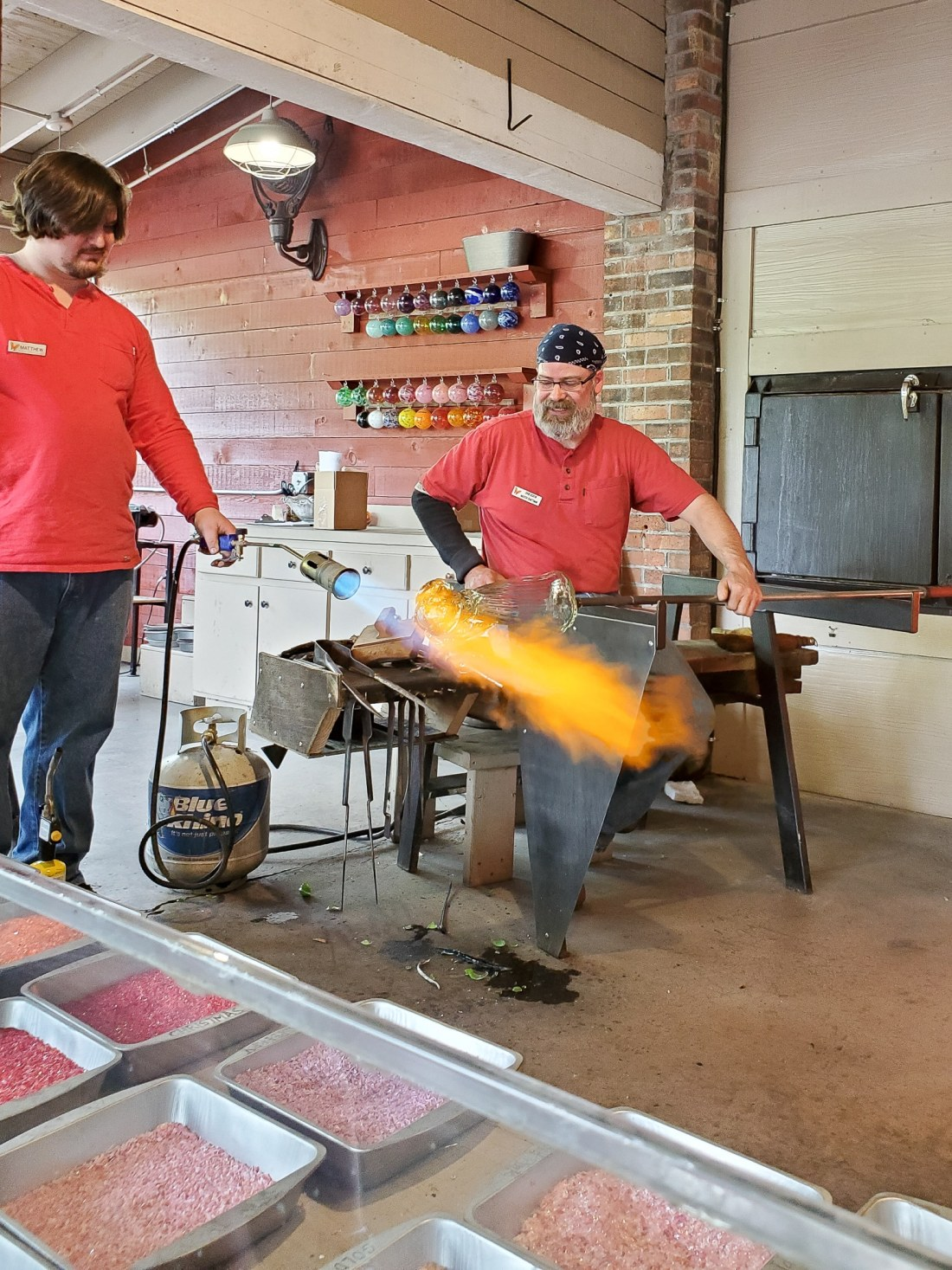 Live Glass Blowing Dollywood. My family spent the day playing and eating at the Dollywood theme park, and we are happy to report we had a blast! Read all about our trip and learn why Dollwood is a must visit destination while you are in Pigeon Forge, TN.
