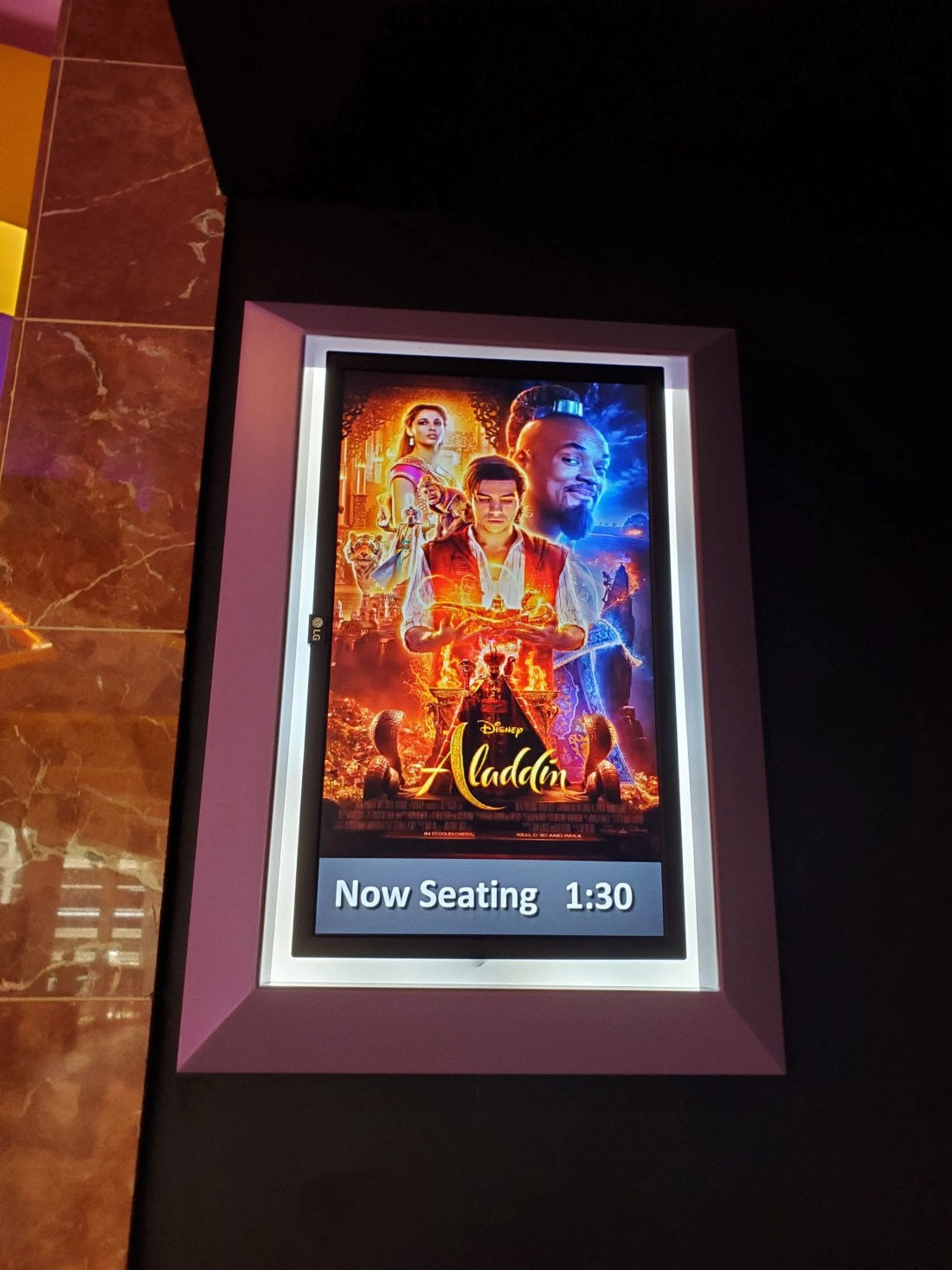 Aladdin Regal Cinema 4DX Showtime Poster. Read my full Disneys Live Action Remake of Aladdin Review on my blog. Disney's Aladdin 4DX Experience at Regal Cinemas - A Whole New World For The Younger Generation | Fangirl Review - Spoiler Alert!