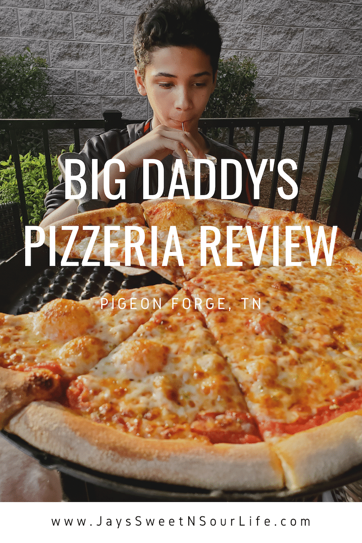 Big Daddy's Pizzeria Review. This is not your average pizza pie!At the heart of Big Daddy's is a 550 degree, wood-fired flame inside of a one-of-a-kind brick oven. Read all about why this freshly made pizza is my families go to pizza joint in Pigeon Forge, TN.