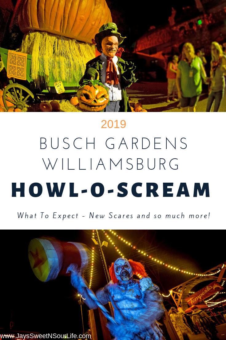Fill fall nights with fright at Busch Gardens Howl-O-Scream. Fear awaits in the Virginia theme park's collection of elaborate haunted houses, immersive themed scare zones, challenging escape rooms, and darkly entertaining live shows. Read all about the new scares and what to expect at Busch Gardens Williamsburg's 2019 Howl-O-Scream event starting September 14th, 2019.
