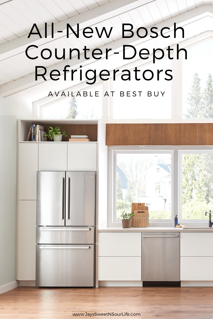 All-New Boach Counter Depth Refridgerator. The All-New Bosch Counter-Depth Refrigerators are now available at your local Best Buy or online at BestBuy.com. Featuring the revolutionary FarmFresh System™, FlexBar™ helping create extra space, a three-tier layered freezer drawer system and so much more.