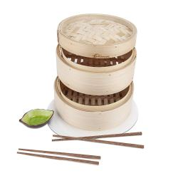 i-PLAYLOFT Premium Handmade Bamboo Steamer. This 100% premium quality bamboo steamer is made with value and craftsmanship at the forefront! Providing endless cooking and steaming opportunities, this asian food cooker comes with a variety of wonderful tools helping make it a perfect steam pot for a large variety of kitchen ideas!