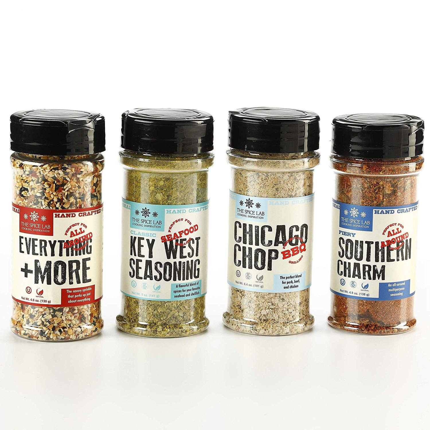 The Spice Lab Taste of America Spices and Seasonings Set. Chicago Chop Seasoning, Key West Seafood Seasoning, Fiery Southern Charm & Everything and More Seasoning. Make your new favorite dishes with delicious all-American seasoning blends that have so much value packed into one gift collection.. 2020 Valentine's Day Gift Guide from Jays Sweet N Sour Life Blog.