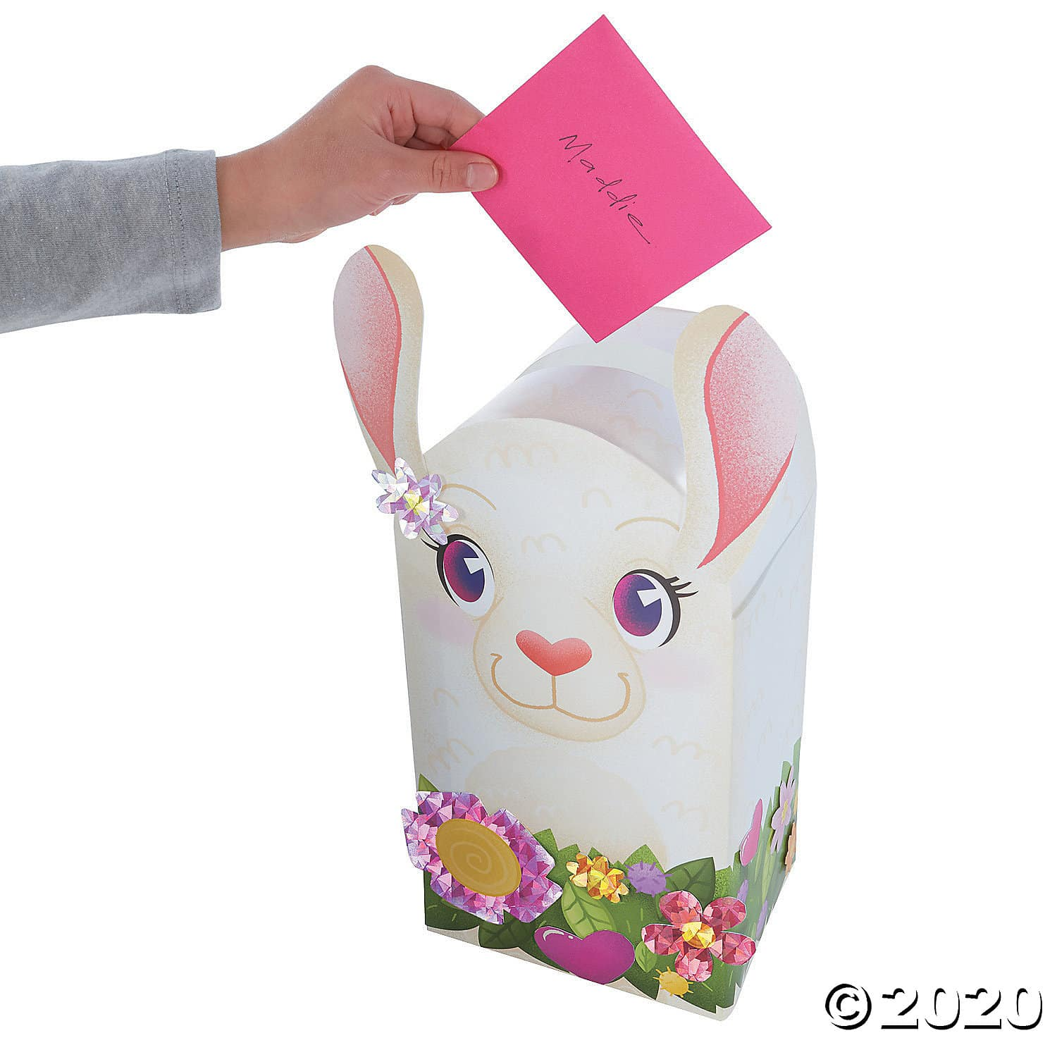 Llama Valentine Mailbox. This ready-to-assemble llama is perfect for collecting Valentine's cards and candy at any classroom party. Simply fold the sturdy cardstock mailbox, seal it with adhesive strips and add sparkly foil accessories for your own personal touch! 2020 Valentine's Day Gift Guide from Jays Sweet N Sour Life Blog.