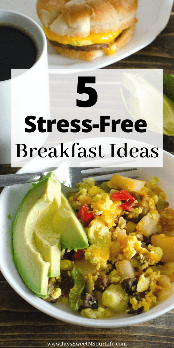 5 Stress-Free Breakfast Ideas. Start your mornings off right with my 5 Stress-Free Breakfast Ideas featuring some of our favorite ways to start our day.