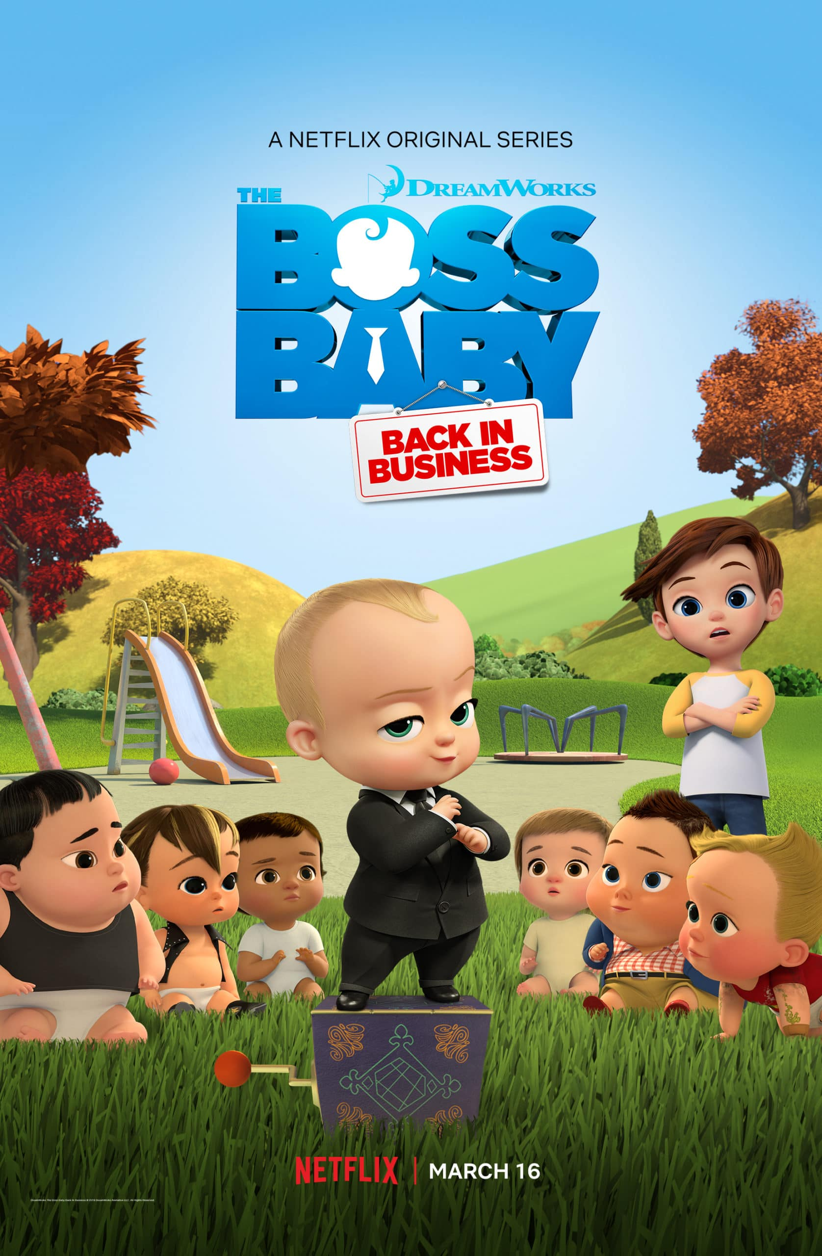 Boss Baby Season 3 Back In Business - Netflix Premiere March 16. The boss is back, baby! After a long sabbatical everyone's favorite modern career baby makes a comeback in the newly launched Season 3 trailer for ?DreamWorks The Boss Baby Back in Business?.