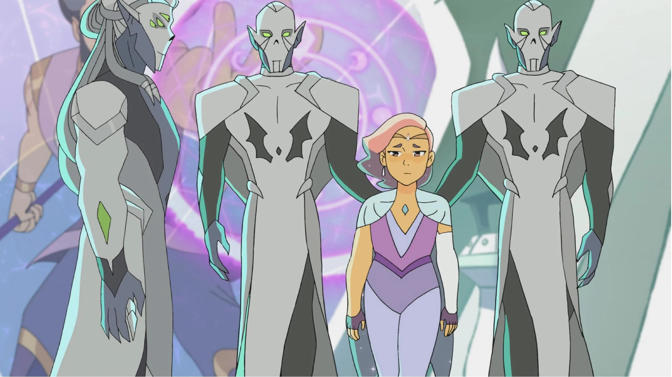 She-Ra and the Princesses of Power Final Season Gaurd. In season 5, the ruthless Horde Prime has arrived and without the Sword of Protection and She-Ra, the Rebellion are facing their toughest challenge yet. Available on Netflix May 8th, 2020.