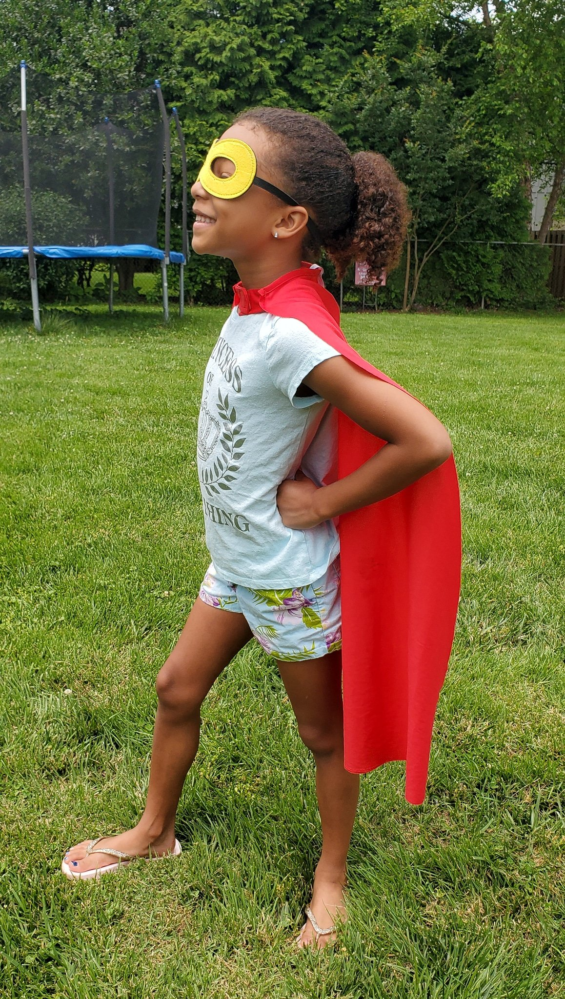 Virtual Super Hero Training Pose. Join us as we adventure through 8 weeks of Virtual Camp Warner Bros. Each week will feature a new fun family friendly activity and a Warner Bros. Show or Movie. This week featured a Virtual Super Hero Training.