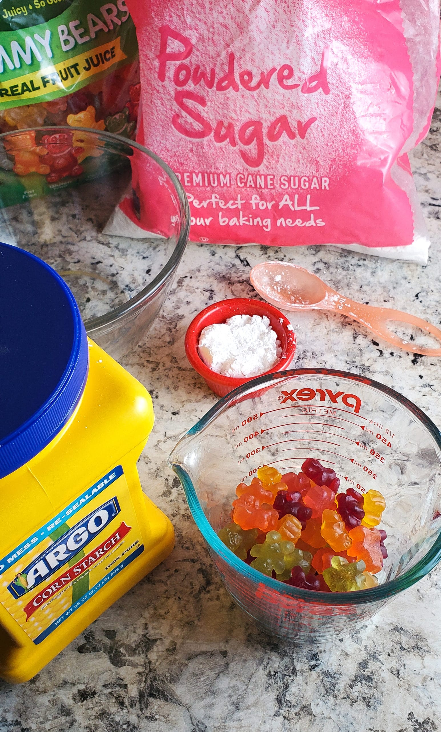 Gummy Bear Slime Ingredients. Get ready for loveable bear hugs, digital culture references, life lessons, and Gummy Bear Slime! Stack the bears up, squish them down and make this adventurous slime that you can actually eat!