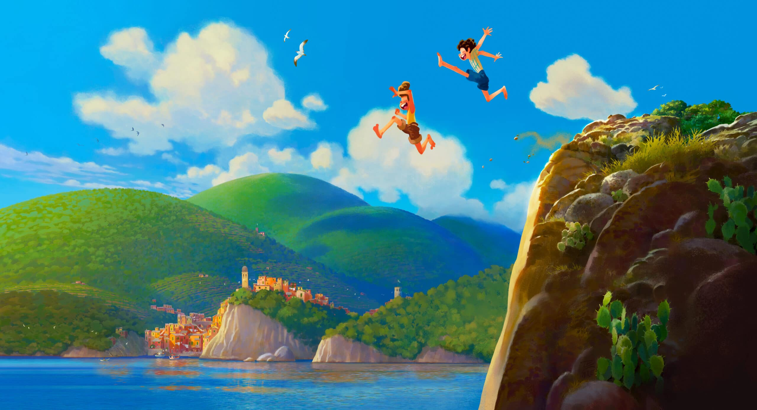 "Set in a beautiful seaside town on the Italian Riviera, the original animated feature is a coming-of-age story about one young boy experiencing an unforgettable summer filled with gelato, pasta, and endless scooter rides. Disney Pixar's ""Luca"" is set to open in U.S. theaters June 18, 2021."