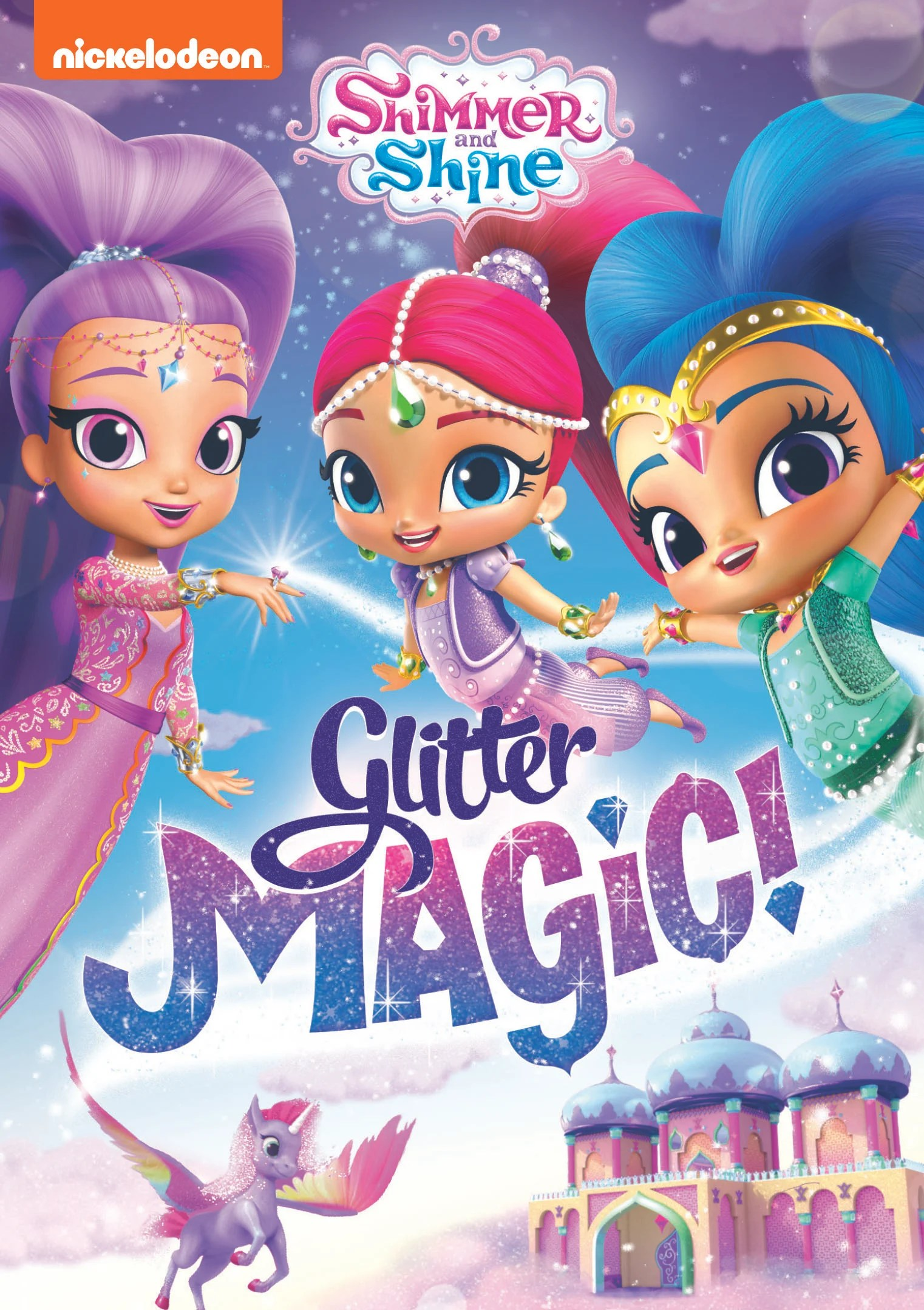 There's plenty of glitter to go around in the new sparkling DVD collection Shimmer and Shine: Glitter Magic! Arriving on August 4, 2020, preschoolers can join Shimmer and Shine for fun magic-filled adventures as they meet the Glitter Genie, learn Glitter Magic, and more!