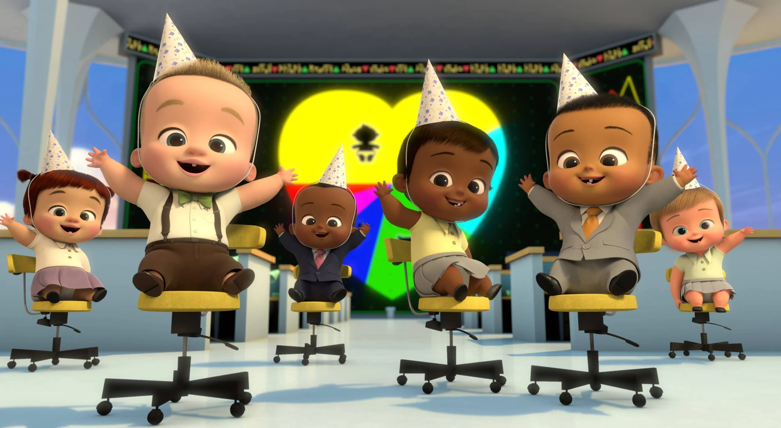 Baby Party DreamWorks The Boss Baby: Get That Baby!. Welcome to the Baby Corp Job Simulator! Through a series of interactive (and hilarious) choices, you will fight off Boss Baby's villains, save Baby Corp, and discover the perfect position for the company's newest recruit: you! DreamWorks The Boss Baby Get That Baby! interactive special comes to Netflix on September 1st.