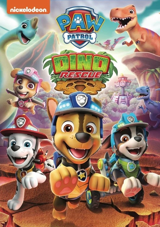 PAW Patrol: Dino Rescue DVD. ROAR into a prehistoric land with the PAW Patrol in thesesixdino-mite tales, includingtwodouble-length missions. Join the pups as they roll into Dino Wilds to keep their new friends safe from an erupting volcano and a scheming dino egg thief. Then, the team gears up for a robotic dinosaur adventure.