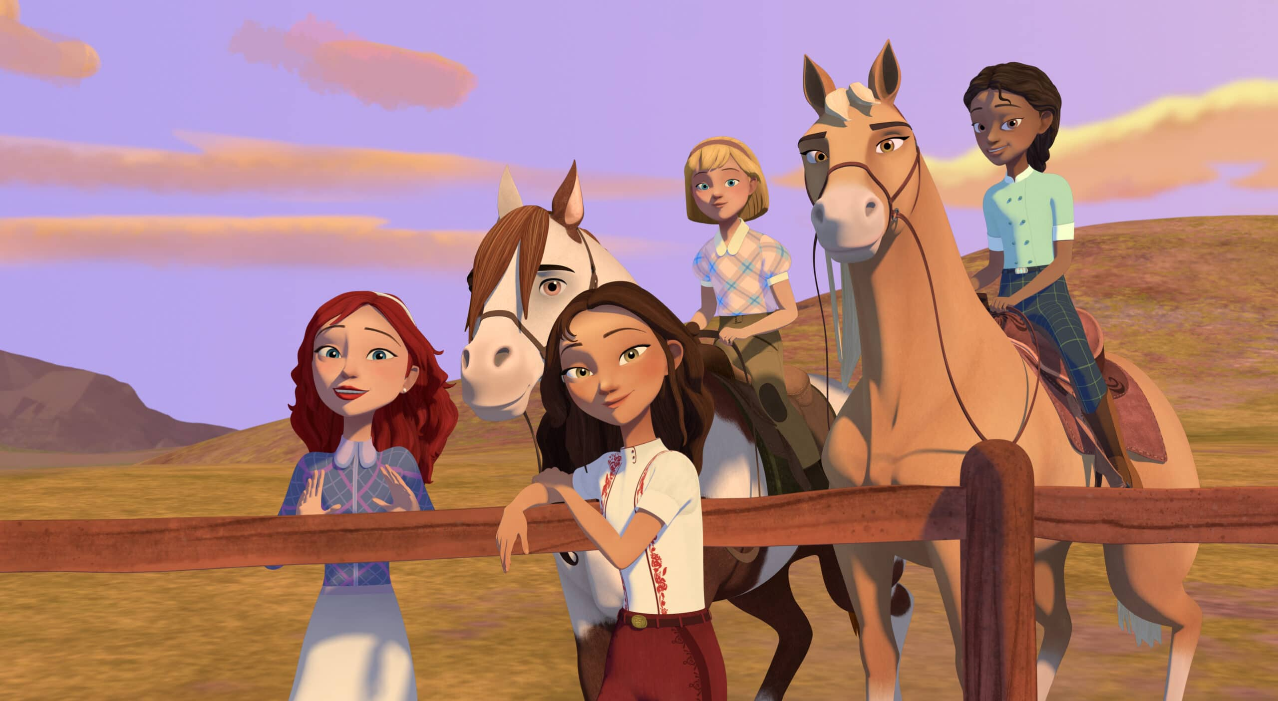 Spirit Riding Academy Part 2 Girls. Inspired by the 2002 Oscar-nominated film ?Spirit: Stallion of the Cimarron,DreamWorks Spirit Riding Free?: Riding Academy Part 2takes place during their final term as Foals, Lucky, Pru & Abigail have finally adjusted to life at Palomino Bluffs Riding Academy when Mariciela announces that she and Mystery will be joining them!