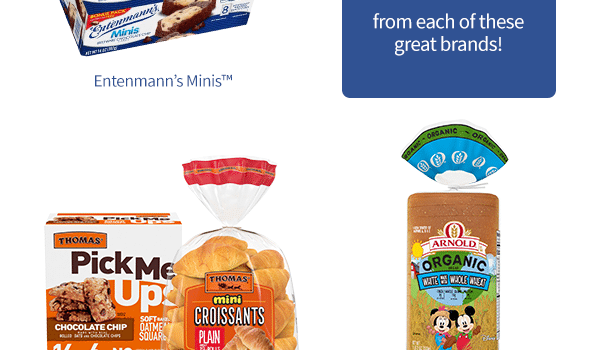 Back To School Savings at Publix on Thomas'®, Entenmann's® Minis, Arnold® Products