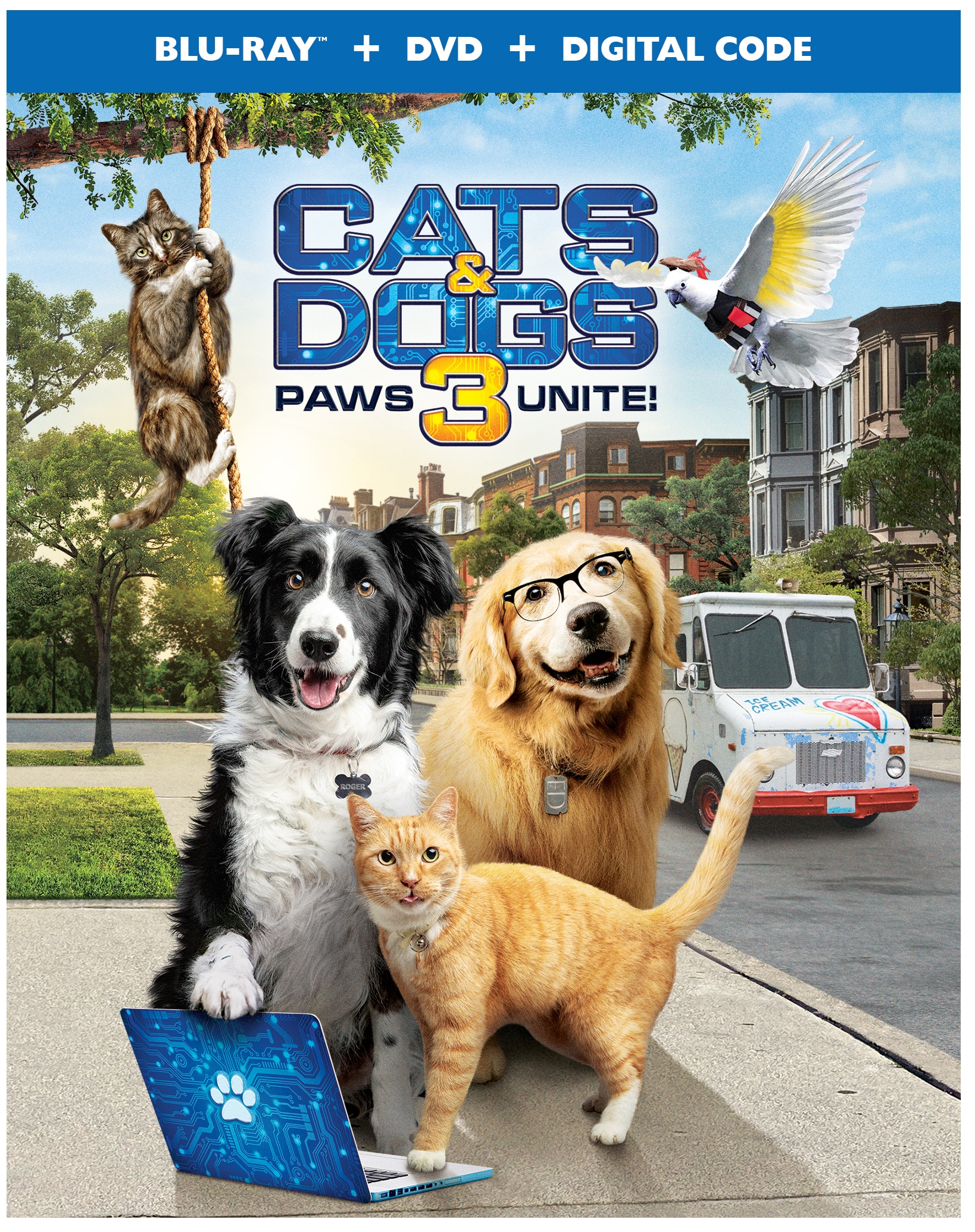 Cats and Dogs 3: Paws Unite! Poster. Discover who has the upper paw in Cats & Dogs 3: Paws Unite!, the next feature-length installment of the popular Cats & Dogs franchise from Warner Bros. Home Entertainment. Available on Digital on September 15 and on both Blu-ray Combo Pack and DVD on October 13.