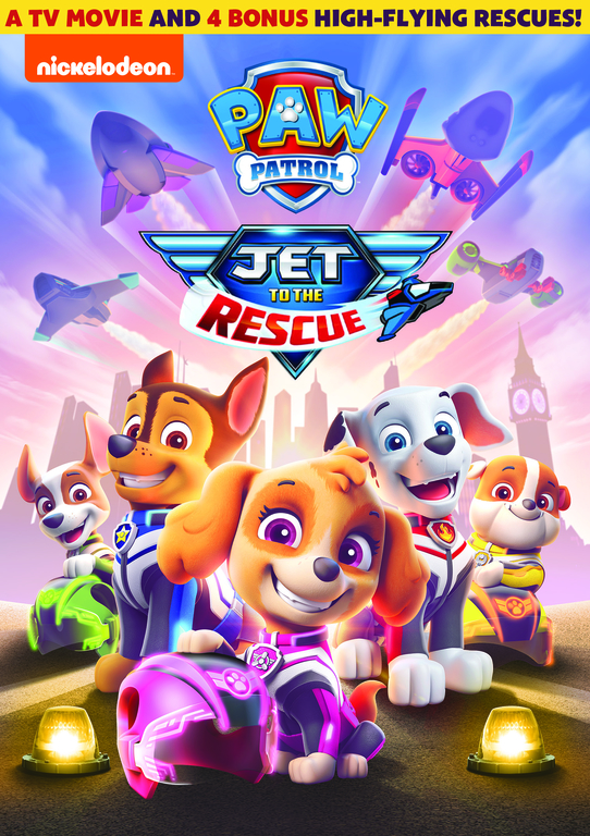 PAW Patrol: Jet to the Rescue DVD. Get ready to zoom back to Barkingburg with the pups in this all-new TV movie. When the scheming Duke of Flappington steals a powerful levitation gem from the royal castle, it's up to thePAW Patrolto jet to the rescue before the town is lost forever.