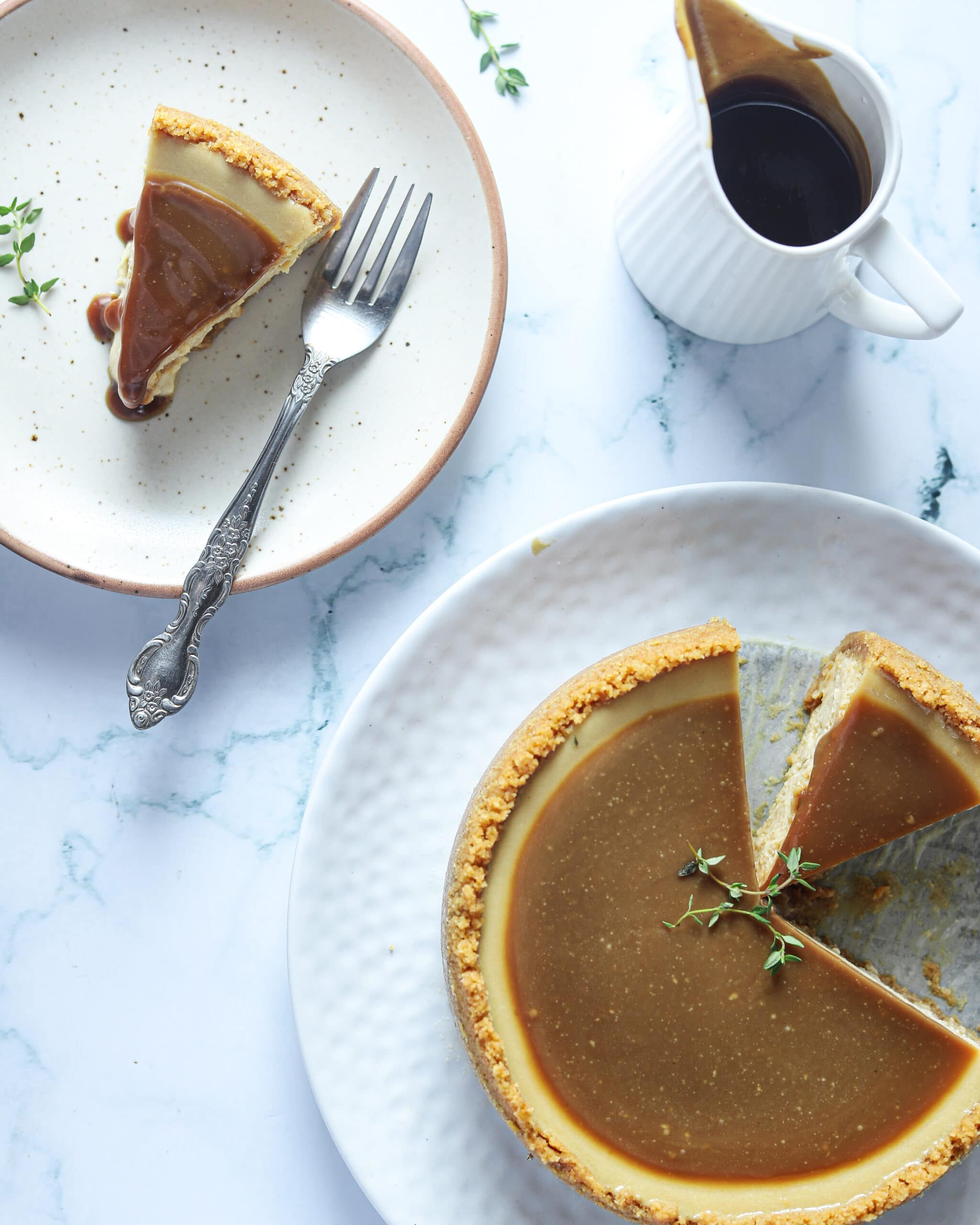 Earl Grey Cheesecake. This Earl Grey Cheesecake is a holiday favorite dessert, with a creamy texture, and delicate flavor. It has an Earl Grey tea-infused cheesecake filling and a Biscoff buttery, crisp crust. This tea-infused cheesecake is the perfect dessert for any occasion.