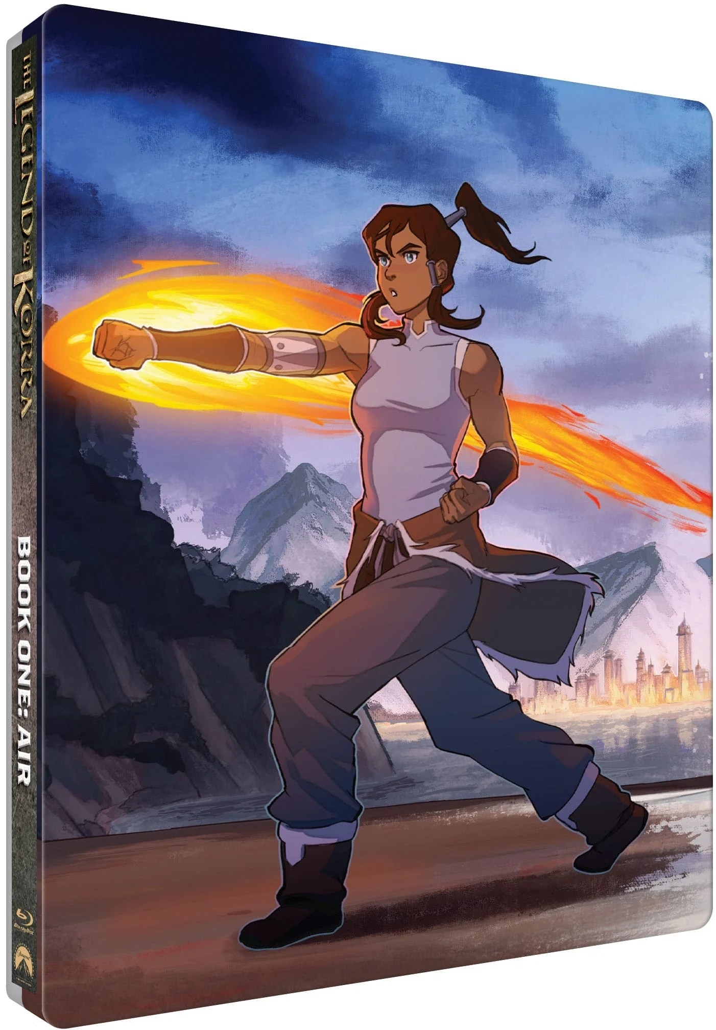 The Legend of Kora Limited Edition Steelbook Collection Book 1 Cover. Nickelodeon'scritically acclaimed, Emmy® Award-winningThe Legend of Korraanimated series receives the SteelBook® treatment. The Legend of Korra - The Complete Series Limited Edition Steelbook Collection, a 4-book collection features stunning new artwork by artist Caleb Thomas. Each book featuring a different element (Fire, Water,Earth, andAir).