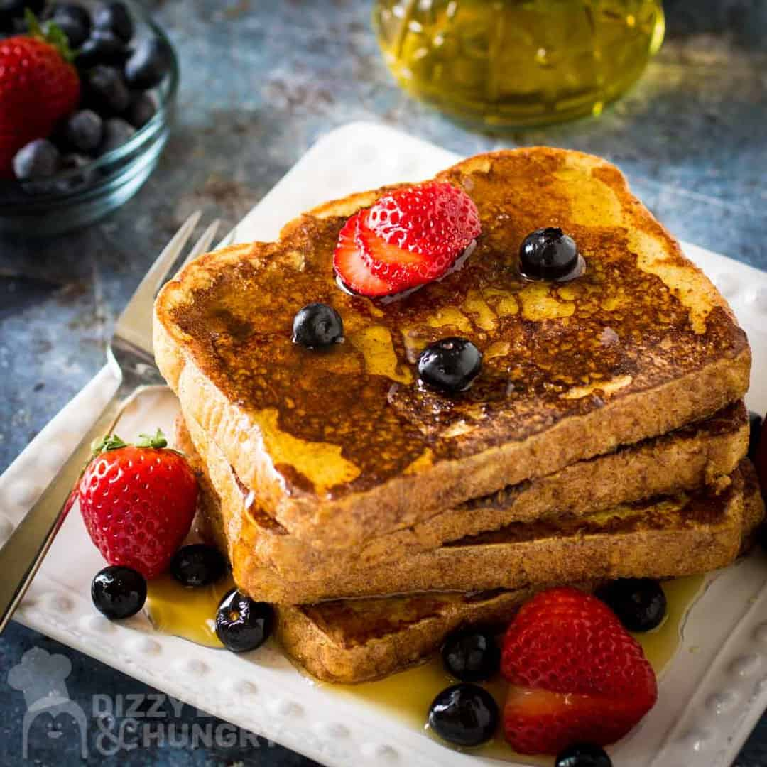 You're going to really love this classic Banana Cinnamon French Toast Recipe! Perfectly grilled until golden brown with crispy fried edges, this is a meal everyone loves and I know you're going to want to make it soon!