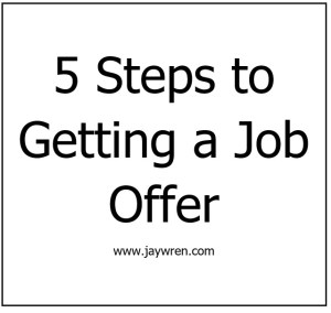 5 Steps to Getting a Job Offer