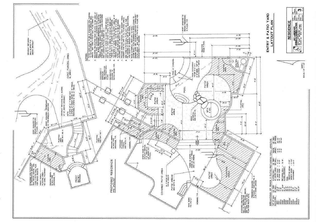 Construction Drawings Jaz Landscape Design