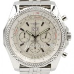Breitling Bentley 6 75 A44362 Men S 48mm White Index Chronograph Stainless Steel