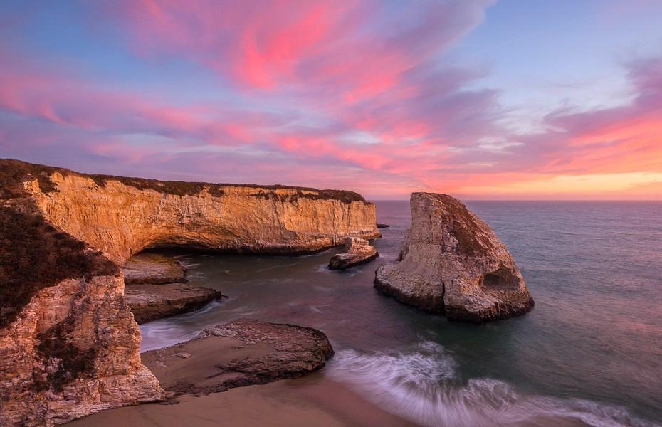 Sunset at Shark Fin by Joe Azure.
