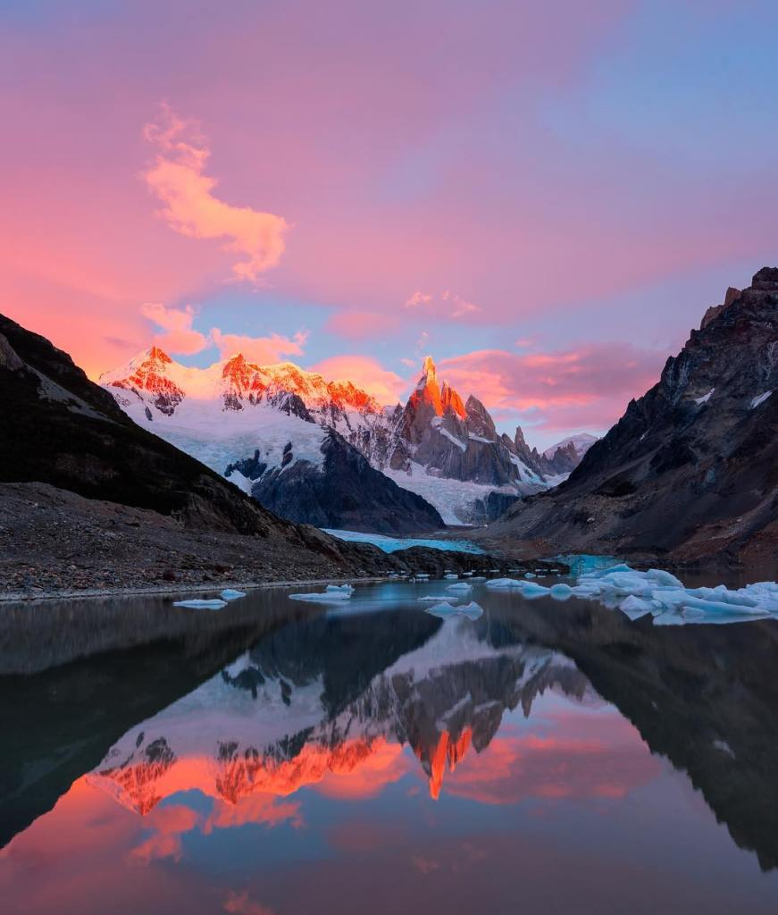 Reflecting on Patagonia  Another great hike from El Chaltnhellip