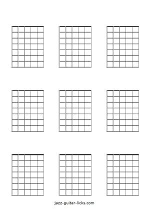 Printable Blank Guitar Neck Diagrams  Chord & Scale Charts