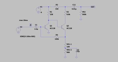 FuzzFace AC128 - LTspice Schematic