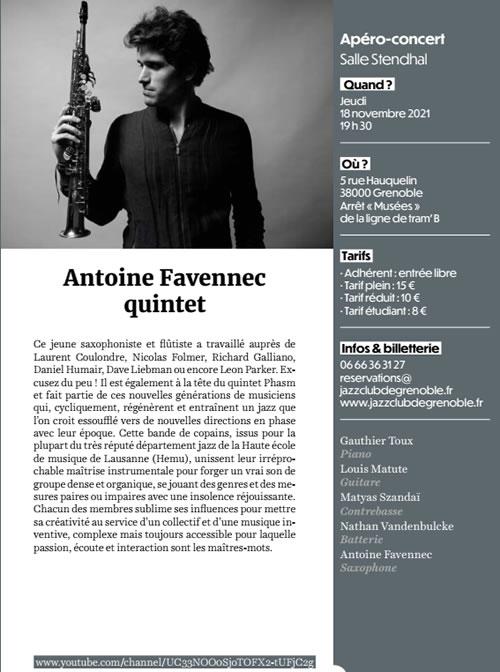 Antoine Favennec Quintet