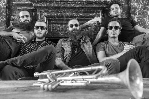 Avishai Cohen's Big Vicious Avishai Cohen (trumpet), Yonatan Albalak (guitar), Uzi Ramirez (guitar), Dan Mayo (drums), Aviv Cohen (drums)Photo © Eddy Westveerwww.eddywestveer.com