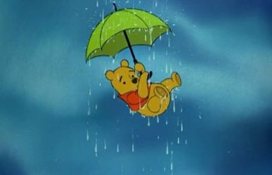 Disney Pooh raining