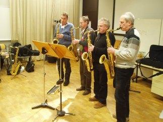 JAM:M_1: Amateur-Saxophonisten. Foto: J. Lichtinger