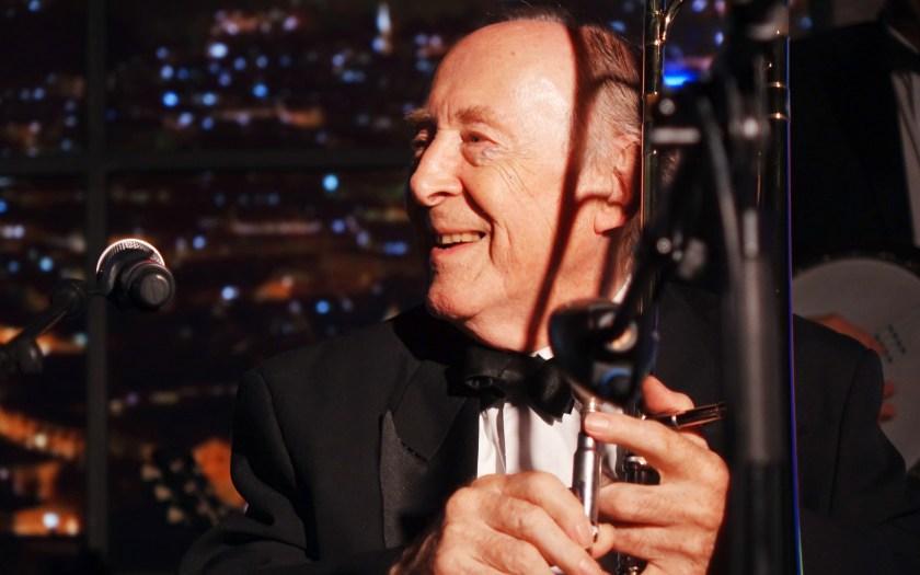 Chris Barber erhält die German Jazz Trophy 2014 - a life for jazz in Stuttgart. Foto: Hans Kumpf