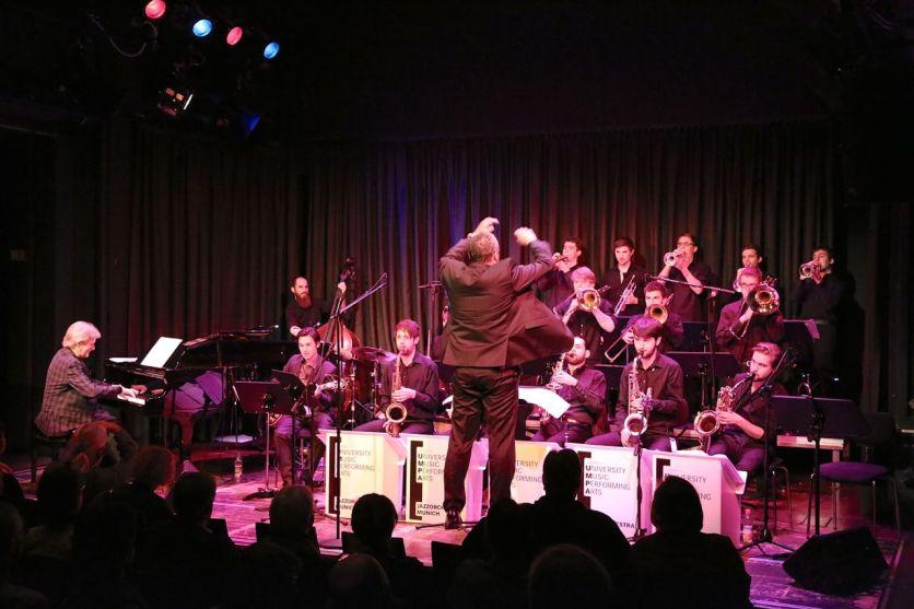 Das U.M.P.A. Jazzorchestra der Hochschule München. Foto Ralf Dombrowski