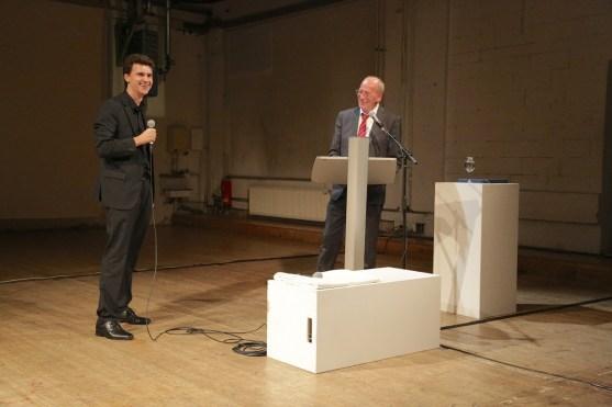 Christian Elsässer mit Hans-Georg Küppers, Kulturreferent der Stadt München. Alle Fotos: Ralf Dombrowski