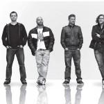 """Von links: Henning Sieverts (b), Andreas Dombert (Chef), Matthias Meusel (dr), Lutz Häfner (sax) und Peter Sandner alias """"Dorsch"""" (Sampler und Synth). Foto: duj"""