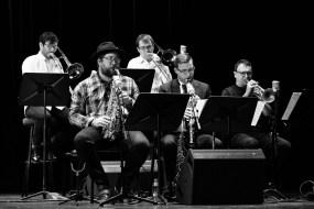 Keith Tippett Octet beim Jazzfest Berlin (hier die Bläsersection). Foto: Petra Basche