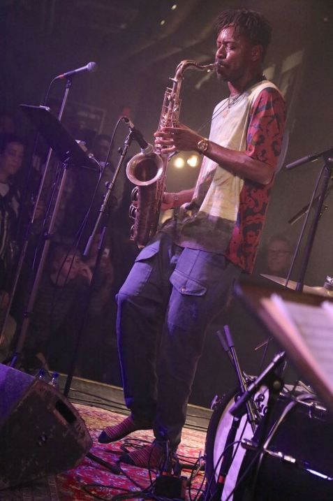 Shabaka Hutchings (sax), Fasching Jazz Club, Stockholm, Foto Ralf Dombrowski