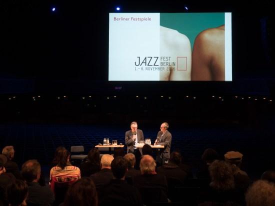 Jazzfest Berlin 2016 - Präludium: Williams und Drechsel im Gespräch. Foto: Hufner