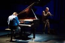 Jazzfest 2016: Alexander von Schlippenbach mit Axel Dörner (Trompete). Foto: Petra Basche