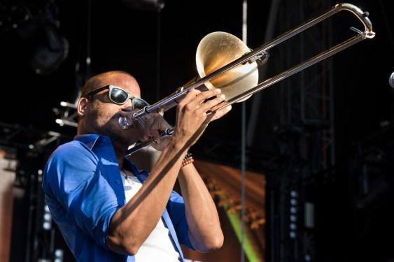 Trombone Shorty bei der jazzopen in Stuttgart. Alle Fotos: Susanne van Loon