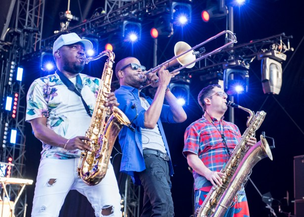 Die Trombone Shorty Horns. Foto: Susanne van Loon