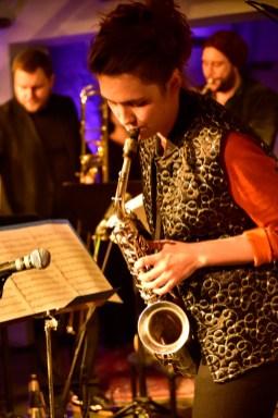 Sängerin, Komponistin und Saxophonistin Luise Volkmann. Foto: Jürgen Volkmann